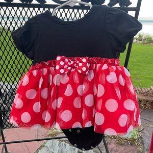 Disney polka dress with onesie